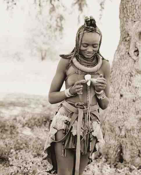 Himba Girl with Shell